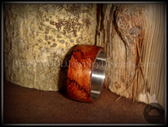 Bentwood Ring - Waterfall Bubinga Wood Ring with Surgical Grade Stainless Steel Comfort Fit Metal Core - Bentwood Jewelry Designs - Custom Handcrafted Bentwood Wood Rings