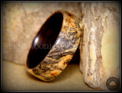 Bentwood Ring - Buckeye Burl on Ebony Wood Ring - Bentwood Jewelry Designs - Custom Handcrafted Bentwood Wood Rings  - 2