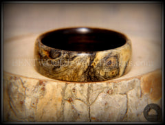 Bentwood Ring - Buckeye Burl on Ebony Wood Ring - Bentwood Jewelry Designs - Custom Handcrafted Bentwood Wood Rings  - 6