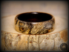 Bentwood Ring - Buckeye Burl on Ebony Wood Ring - Bentwood Jewelry Designs - Custom Handcrafted Bentwood Wood Rings  - 3