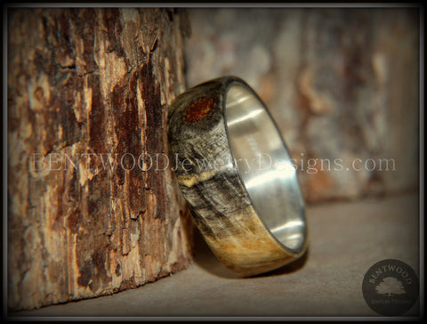 "Bentwood Ring - Buckeye Burl ""Midwest"" Wood Ring Silver Core Ring"