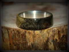 "Bentwood Ring - Buckeye Burl ""Midwest"" Wood Ring Silver Core Ring handcrafted bentwood wooden rings wood wedding ring engagement"