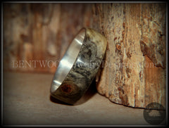 "Bentwood Ring - Buckeye Burl ""Midwest"" Wood Ring Silver Core Ring - Bentwood Jewelry Designs - Custom Handcrafted Bentwood Wood Rings"