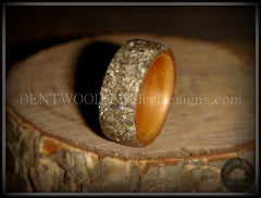 Bentwood Ring - Cherry Wood Ring with Full Silver Glass Inlay - Bentwood Jewelry Designs - Custom Handcrafted Bentwood Wood Rings