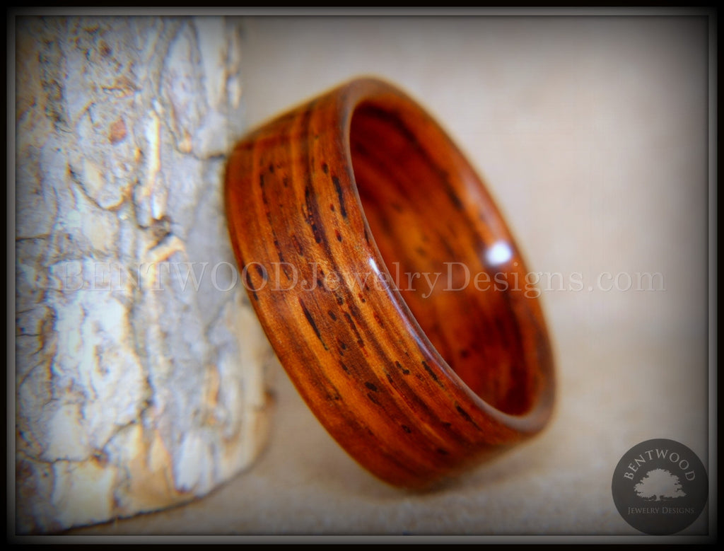 Bentwood Ring - Cocobolo Wooden Ring handcrafted bentwood wooden rings wood wedding ring engagement