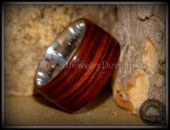 Bentwood Ring - Cocobolo Wood Ring with Surgical Grade Stainless Steel Comfort Fit Metal Core - Bentwood Jewelry Designs - Custom Handcrafted Bentwood Wood Rings  - 3