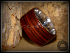 Bentwood Ring - Cocobolo Wood Ring with Surgical Grade Stainless Steel Comfort Fit Metal Core - Bentwood Jewelry Designs - Custom Handcrafted Bentwood Wood Rings
