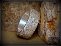"Bentwood Ring - ""Remembrance"" Cremation Ashes on Pure Silver Core - Bentwood Jewelry Designs - Custom Handcrafted Bentwood Wood Rings"