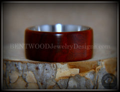 "Bentwood Ring - ""Crimson"" Sandalwood Surgical Steel Core Comfort Fit handcrafted bentwood wooden rings wood wedding ring engagement"