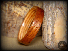 Bentwood Ring - Etimoe and Birch Boat Deck Ply Core handcrafted bentwood wooden rings wood wedding ring engagement