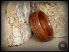 "Bentwood Ring - ""Classic Rose"" S. American Rosewood Wood Ring - Bentwood Jewelry Designs - Custom Handcrafted Bentwood Wood Rings"