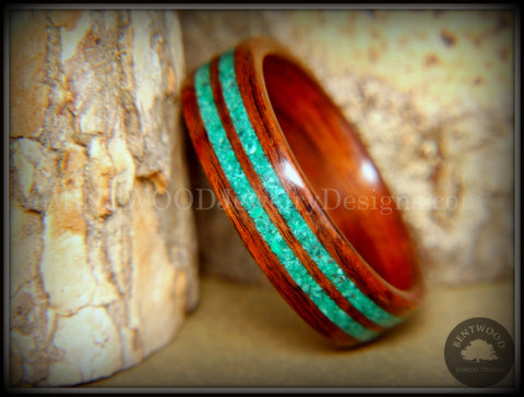 Bentwood Ring - Kingwood with Malachite Inlays