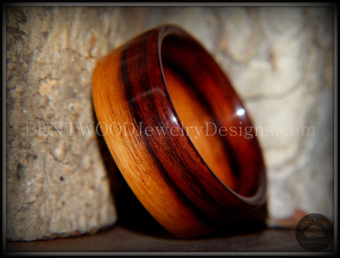 Bentwood Ring - Striped Kingwood Classic Handcrafted Durable and Unique Wood Ring
