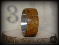 Bentwood Ring - Laurel Burl Wood Ring with Surgical Grade Stainless Steel Comfort Fit Metal Core - Bentwood Jewelry Designs - Custom Handcrafted Bentwood Wood Rings