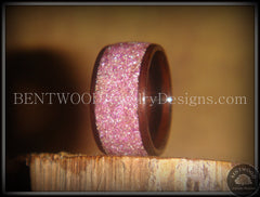 Bentwood Ring - Macassar Ebony Wood Ring with Crushed Lilac Glass Inlay - Bentwood Jewelry Designs - Custom Handcrafted Bentwood Wood Rings  - 3