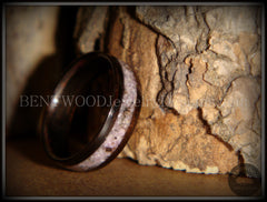 Bentwood Ring - Macassar Ebony Wood Ring and Charoite Stone Inlay - Bentwood Jewelry Designs - Custom Handcrafted Bentwood Wood Rings  - 3