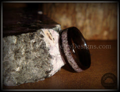 Bentwood Ring - Macassar Ebony Wood Ring and Charoite Stone Inlay - Bentwood Jewelry Designs - Custom Handcrafted Bentwood Wood Rings  - 5