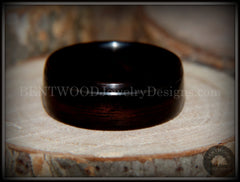 Bentwood Rings - Macassar Ebony Ring with Offset Silver Inlay - Bentwood Jewelry Designs - Custom Handcrafted Bentwood Wood Rings  - 3