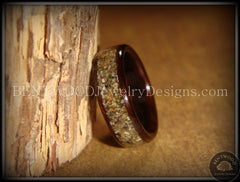 Bentwood Ring - Macassar Ebony Wood Ring with Canadian Beach Sand Inlay - Bentwood Jewelry Designs - Custom Handcrafted Bentwood Wood Rings  - 5