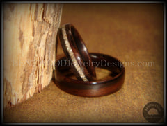 Bentwood Rings Set - Ebony Wood Ring Set with Glass Inlay - Bentwood Jewelry Designs - Custom Handcrafted Bentwood Wood Rings  - 3