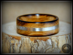 "Bentwood Ring - ""Ole Smoky Silver"" Olive Wood Ring Silver Inlay handcrafted bentwood wooden rings wood wedding ring engagement"
