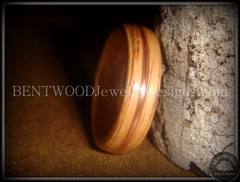 Bentwood Ring - Red Oak Wood Ring with Copper Inlay - Bentwood Jewelry Designs - Custom Handcrafted Bentwood Wood Rings  - 2