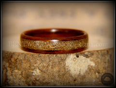 Bentwood Ring - Santos Rosewood w/ Brass Shavings Inlay - Bentwood Jewelry Designs - Custom Handcrafted Bentwood Wood Rings