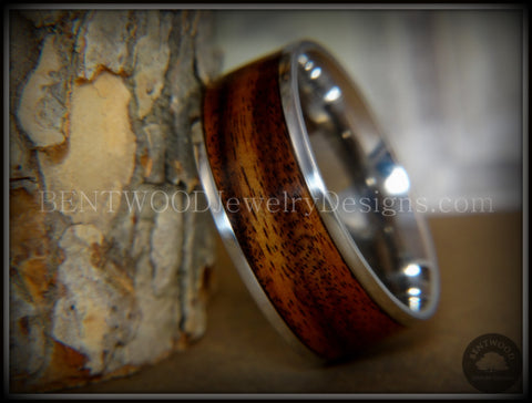Bentwood Ring - E. Indian Rosewood Wood Ring with Surgical Grade Stainless Steel Comfort Fit Metal Core