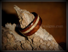 Bentwood Rings - Rosewood Ring with Hawaiian Beach Sand Inlay - Bentwood Jewelry Designs - Custom Handcrafted Bentwood Wood Rings  - 3