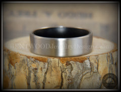 Bentwood Gaboon Ebony Core Ring and Surgical Grade Hypo-Allergenic Stainless Steel Exterior - Bentwood Jewelry Designs - Custom Handcrafted Bentwood Wood Rings  - 5