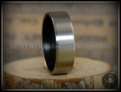Bentwood Gaboon Ebony Core Ring and Surgical Grade Hypo-Allergenic Stainless Steel Exterior - Bentwood Jewelry Designs - Custom Handcrafted Bentwood Wood Rings  - 4