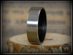 Bentwood Ring - Gaboon Ebony Core Ring and Surgical Grade Hypo-Allergenic Stainless Steel Exterior handcrafted bentwood wooden rings wood wedding ring engagement