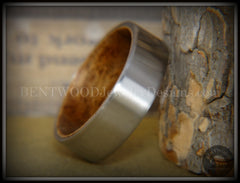 Bentwood Rosewood Core Ring and Surgical Grade Hypo-Allergenic Stainless Steel Exterior - Bentwood Jewelry Designs - Custom Handcrafted Bentwood Wood Rings  - 6
