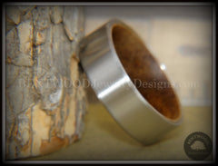 Bentwood Rosewood Core Ring and Surgical Grade Hypo-Allergenic Stainless Steel Exterior - Bentwood Jewelry Designs - Custom Handcrafted Bentwood Wood Rings  - 5