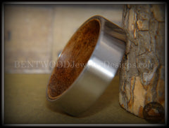 Bentwood Rosewood Core Ring and Surgical Grade Hypo-Allergenic Stainless Steel Exterior - Bentwood Jewelry Designs - Custom Handcrafted Bentwood Wood Rings  - 2