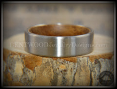 Bentwood Rosewood Core Ring and Surgical Grade Hypo-Allergenic Stainless Steel Exterior - Bentwood Jewelry Designs - Custom Handcrafted Bentwood Wood Rings  - 4