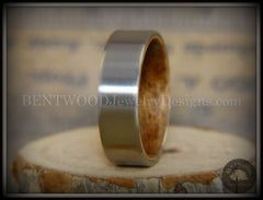 Bentwood Rosewood Core Ring and Surgical Grade Hypo-Allergenic Stainless Steel Exterior - Bentwood Jewelry Designs - Custom Handcrafted Bentwood Wood Rings  - 3