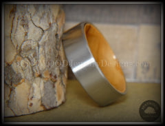 Bentwood Olivewood Core Ring and Surgical Grade Hypo-Allergenic Stainless Steel Exterior - Bentwood Jewelry Designs - Custom Handcrafted Bentwood Wood Rings  - 5