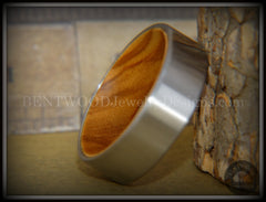 Bentwood Olivewood Core Ring and Surgical Grade Hypo-Allergenic Stainless Steel Exterior - Bentwood Jewelry Designs - Custom Handcrafted Bentwood Wood Rings  - 2