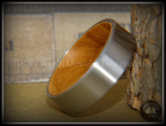 Bentwood Olivewood Core Ring and Surgical Grade Hypo-Allergenic Stainless Steel Exterior - Bentwood Jewelry Designs - Custom Handcrafted Bentwood Wood Rings  - 6