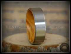 Bentwood Olivewood Core Ring and Surgical Grade Hypo-Allergenic Stainless Steel Exterior - Bentwood Jewelry Designs - Custom Handcrafted Bentwood Wood Rings  - 3