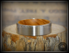 Bentwood Olivewood Core Ring and Surgical Grade Hypo-Allergenic Stainless Steel Exterior - Bentwood Jewelry Designs - Custom Handcrafted Bentwood Wood Rings  - 4