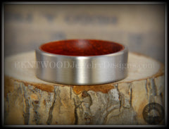 Bentwood Padauk Core Ring and Surgical Grade Hypo-Allergenic Stainless Steel Exterior - Bentwood Jewelry Designs - Custom Handcrafted Bentwood Wood Rings  - 6