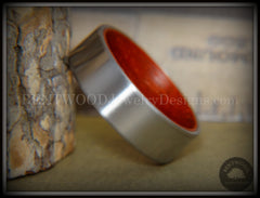 Bentwood Padauk Core Ring and Surgical Grade Hypo-Allergenic Stainless Steel Exterior - Bentwood Jewelry Designs - Custom Handcrafted Bentwood Wood Rings  - 5
