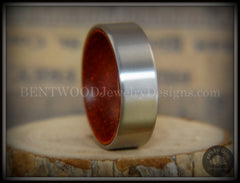 Bentwood Padauk Core Ring and Surgical Grade Hypo-Allergenic Stainless Steel Exterior - Bentwood Jewelry Designs - Custom Handcrafted Bentwood Wood Rings  - 3