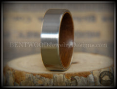 Bentwood Walnut Core Ring and Surgical Grade Hypo-Allergenic Stainless Steel Exterior - Bentwood Jewelry Designs - Custom Handcrafted Bentwood Wood Rings