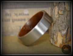 Bentwood Walnut Core Ring and Surgical Grade Hypo-Allergenic Stainless Steel Exterior - Bentwood Jewelry Designs - Custom Handcrafted Bentwood Wood Rings  - 3