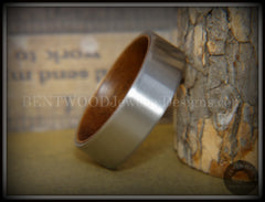 Bentwood Walnut Core Ring and Surgical Grade Hypo-Allergenic Stainless Steel Exterior - Bentwood Jewelry Designs - Custom Handcrafted Bentwood Wood Rings  - 4
