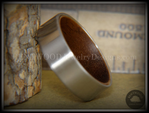 Bentwood Walnut Core Ring and Surgical Grade Hypo-Allergenic Stainless Steel Exterior