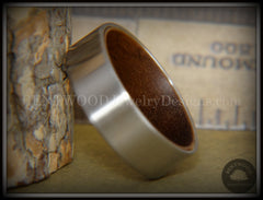 Bentwood Walnut Core Ring and Surgical Grade Hypo-Allergenic Stainless Steel Exterior - Bentwood Jewelry Designs - Custom Handcrafted Bentwood Wood Rings  - 1